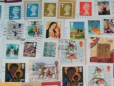 Pack of 200 used stamps, all from the UK, on paper