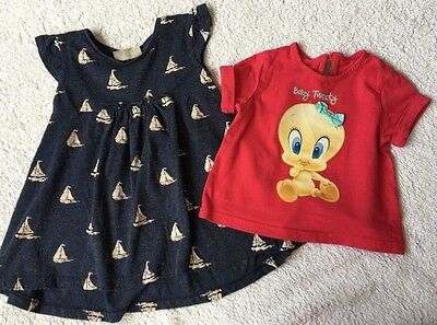 Next Dress & Tweety Top. Age 9-12 Months. Great Condition