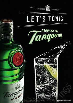 Tanqueray print ad 2013 bottle and glass with lime - Let's Tonic
