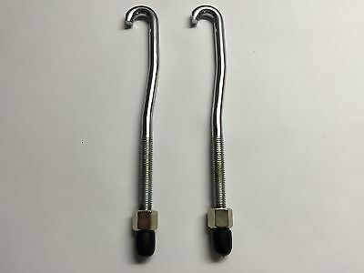 Universal Chrome Conga Tuning Lugs, Rods, Tensioners, LP, Toca, Meinl, Natal x 2