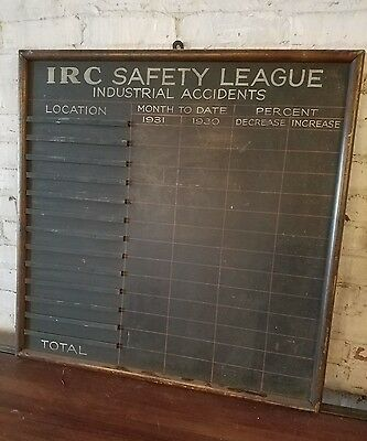 Antique Industrial Factory Trade Sign c.1930