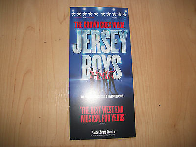 **The Jersey Boys Flyer At Prince Edward Theatre London**