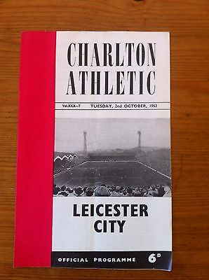 Charlton Athletic V Leicester City 1962/63 League Cup