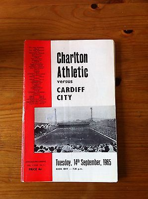 Charlton Athletic V Cardiff City 1965/66