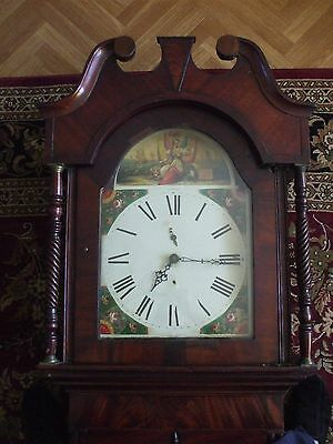 Large Antique 30 Hour Grandfather Clock.