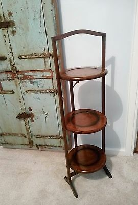 The Old Cake Folding Stand Oak Wood English 1900 collection home decor Display