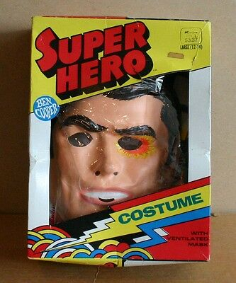 Six Million Dollar Man Ben Cooper Halloween Costume with Box 1974