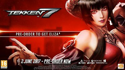 TEKKEN 7 ELIZA CHARACTER PERSONAJE DLC CODE PS4, XBOX ONE or PC **NO GAME**