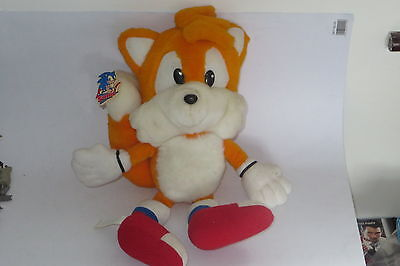 "TWO TAILS From Sonic The Hedgehog 14"" Plush (1992) Sega Rare original"