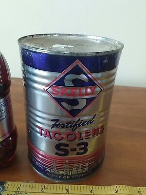 Skelly Tagolene full S3metal oil can petroleum gas collectible auto