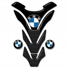 Motorcycle Tank Pad Protector Sticker   (BMW) Carbon Style