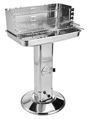 Grill Stainless Steel BBQ XXL Standing Charcoal with Large Surface