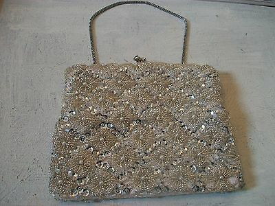 Vintage 1960s beaded evening bag, good condition