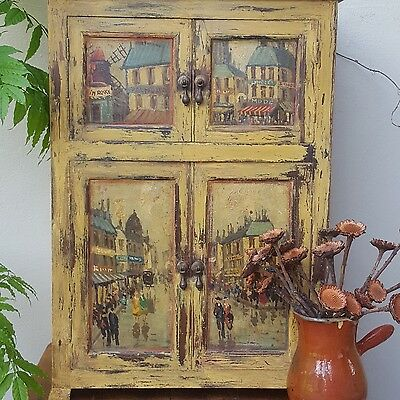 French cabinet with Parisian fine art