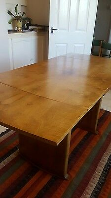 1930's walnut dining table. Extendable.