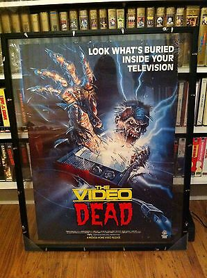 VIDEO DEAD RARE ORIGINAL UK VIDEO POSTER - Double Sided Pre Cert