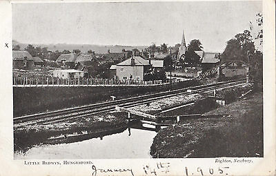 Berkshire.hungerford.little Bedwyn,showing Railway And Canal,pu 1905