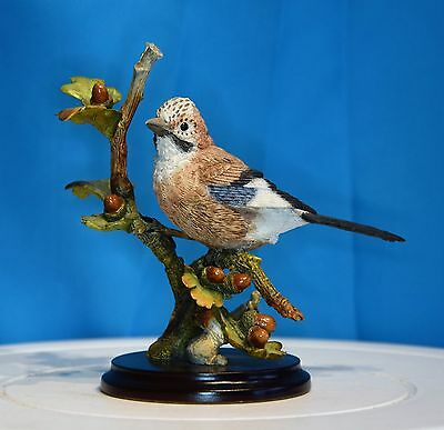 An Excellent Country Artists Figure Of A Jay With Acorns