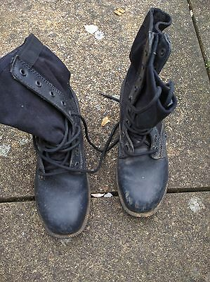 Black Jungle Military boots US Army Vietnam UK Size 9 and 10