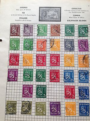 Finland selection of used stamps 1930 definitive series