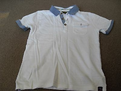 Boys Ted Baker Polo Shirt Age 7-8 Years In White
