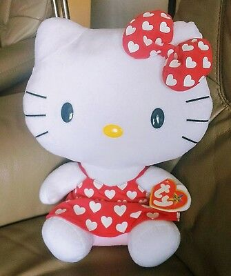 Large Hello Kitty Love Heart Soft Toy