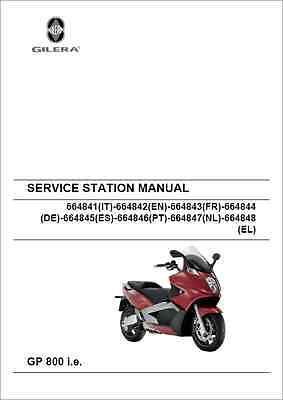 Gilera GP800 I.E. Service Manual 2007 Onwards (0344)