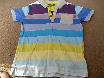 Boys Striped Ted Baker Polo Shirt Age 7-8 Years