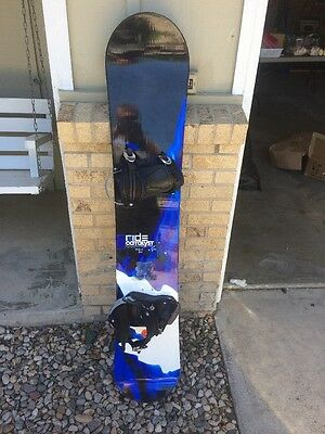 Ride Catalyst 160cm Snowboard With Large Switch Snowboard Bindings