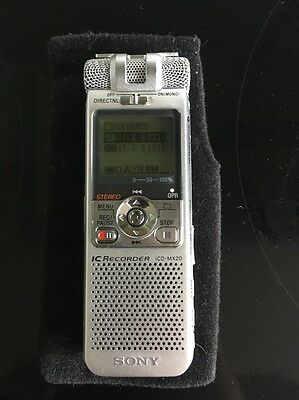 Sony IC ICD MX 20 professional digital voice recorder Dictaphone Tested ICD-MX20