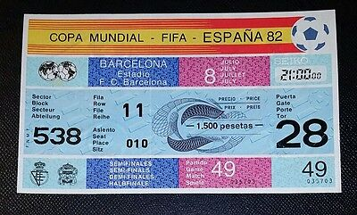 Espana 82 Original 1982 world cup Poland v Italy semi final unused ticket