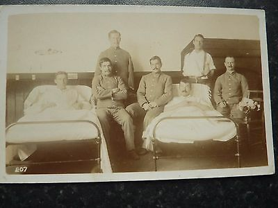 Ww 1 Real Photo  Postcard - Wounded Soldiers In Hospital
