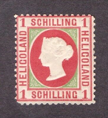 Heligoland 1869/73  One Schilling Rose and Yellow Green  SG 8   VLHM