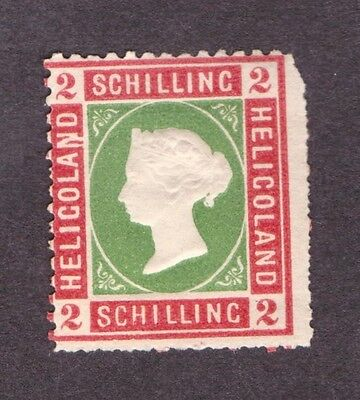Heligoland 1867  Two Schillings  Rose and Grass Green     SG 3  VLHM