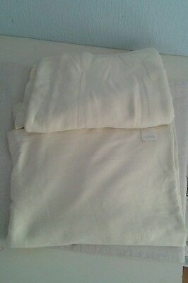 Set of two flat sheet for cot bed from Mamas and Papas