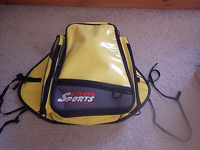 Oxford Motorcycle Tank Bag with rain cover, yellow
