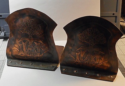 A Pair of Arts & Crafts Copper Bookends