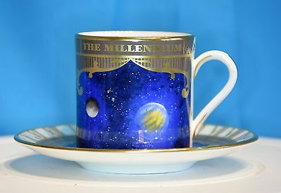 Royal Worcester Limited Edition Millenium Coffee Cup And Saucer