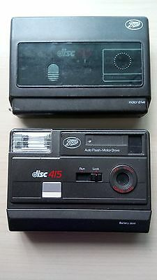 Two Original Vintage Disc Cameras Nos 415 & 515 - Excellent Condition
