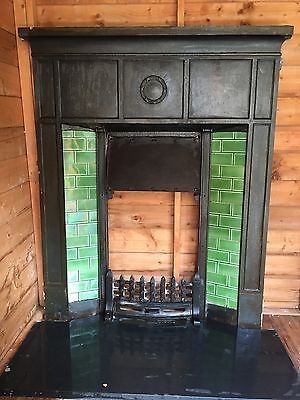 Cast iron Victorian fireplace with surround