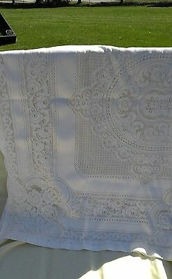 Vintage Off White lace 57x 46 Preowned. Tablecloth.
