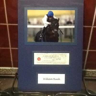 a4 hand signed memorabili of william buick with a coa