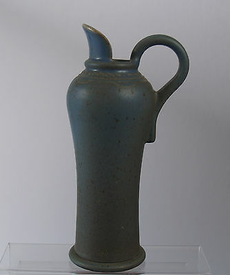 Art pottery blue-glazed jug, good quality, REDUCED START PRICE!