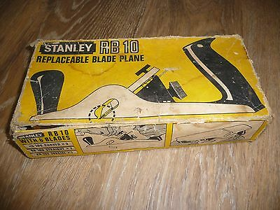 Vintage Boxed Stanley RB10 Replaceable Blade Rebate Plane + instructions