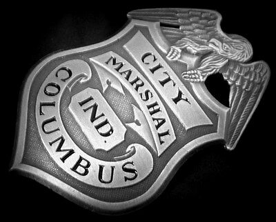 Columbus / Bartholomew Co./ Indiana 1883...obsolete USA COLLECTOR'S POLICE BADGE