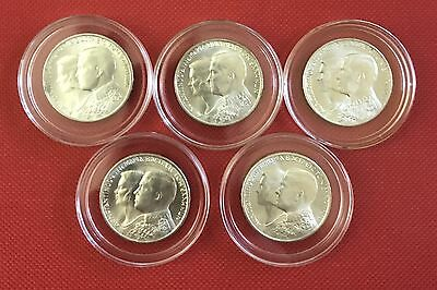 Greece 30 Drachmai, 1964, Constantine and Anne-Marie Wedding Silver: SET OF 5