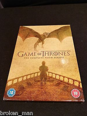 Game Of Thrones The Complete Fifth Season 5 Disc R2 Dvd Boxset