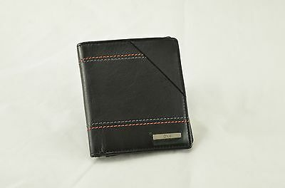 Dice Black Leather Trifold Wallet With Coin Purse