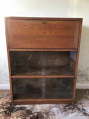 VINTAGE WRITING BUREAU 1960s WITH BOOKCASE.