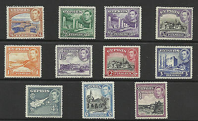 Cyprus - KGVI stamps - H/Mint